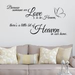 Because Someone we Love is in Heaven ~ Wall sticker / decals